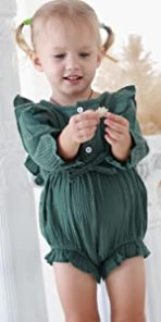 long sleeve rompers baby girl