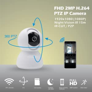 eco4life PTZ IP camera Full 1080 HD 360˚