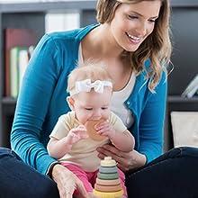 Mini Tudou Stacking Nesting Toys Montessori Sensory Toys for babies 6 to 12 months-8