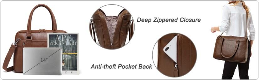 brown laptop bag for women