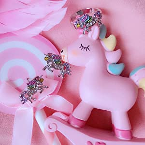 unicorn earrings ring