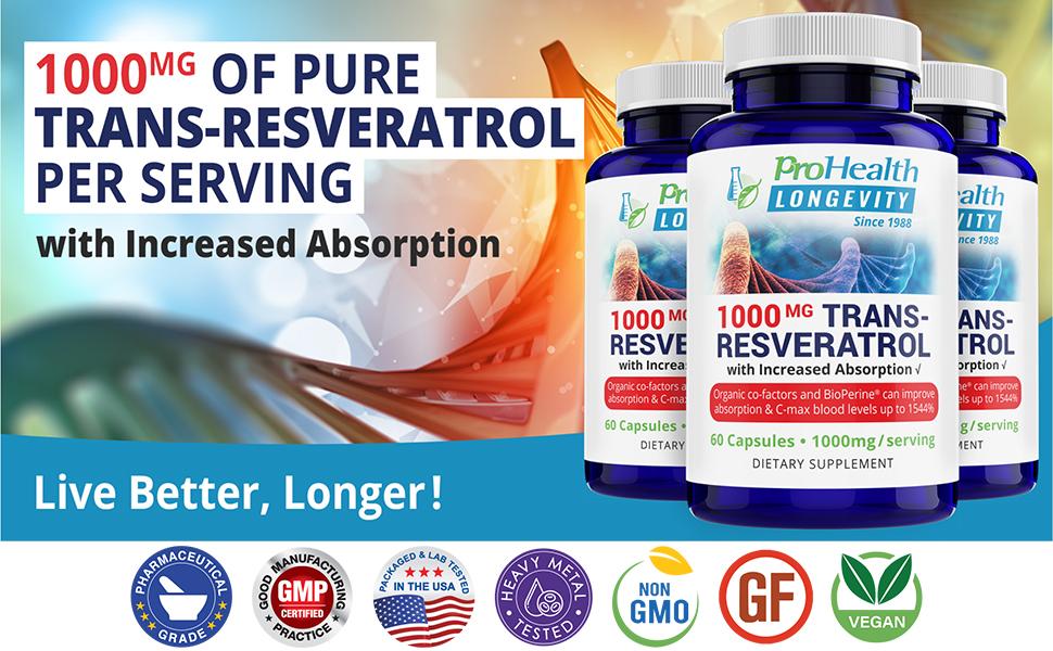 1000 mg pure trans-resveratrol