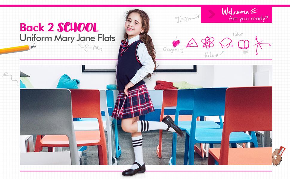 girls School Uniform shoes