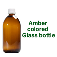 Dr. Patkar's ACV HRT is bottled in amber colored glass bottle