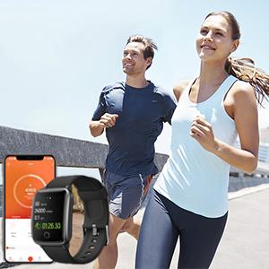gps running watch step tracker watch