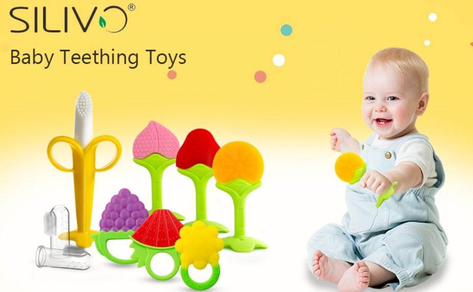 SILIVO jouets de dentition et brosses à dents pour bébés pour soulager l'inconfort de dentition