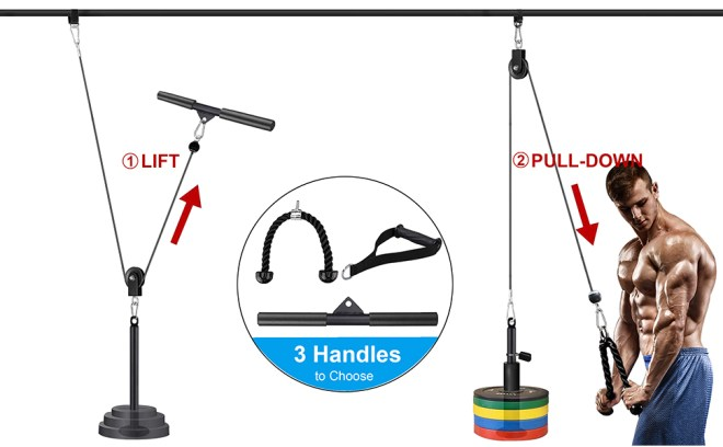 cable pulley attachments for gym