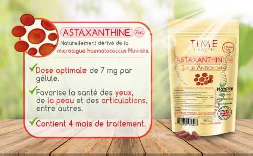 L'astaxanthine 6000 fois plus puissant que la vitamine C