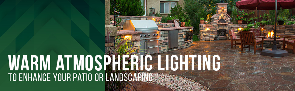 patio landscape lighting fixtures gkoled hardscape wall step lights fence deck stair rail railing