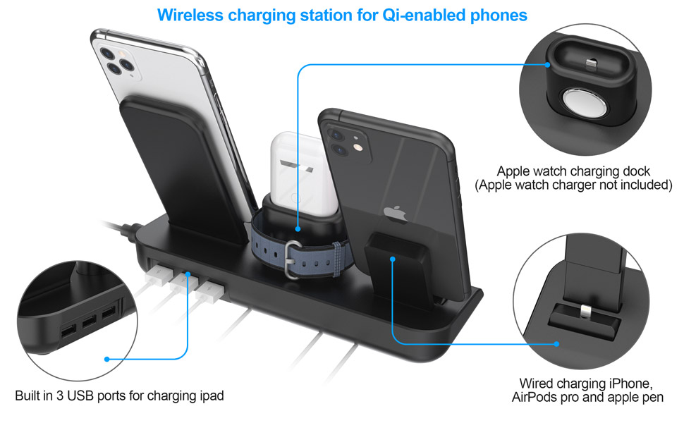 wireless charger for iPhone AirPods and apple watch