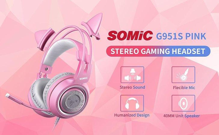 Pink Gaming Headset Best Wireless Headphones