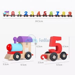 wooden puzzle for kids, learning block train toy, educational games, 123 learning toy, toy & games