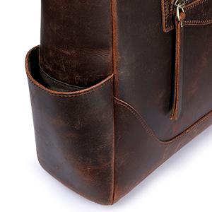 Women Vintage Genuine Leather Tote Bag Large Shoulder Purse Work Handbag