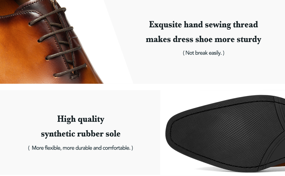 Hight quality rubber sole dress shoe