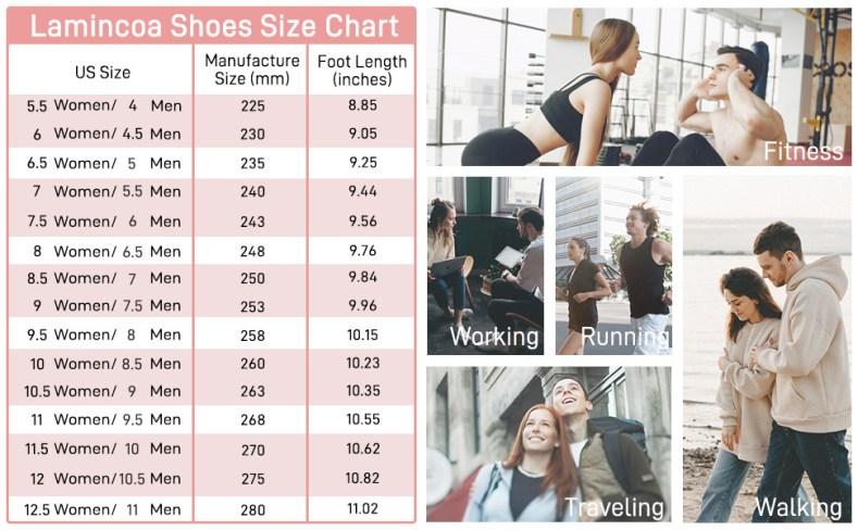 lamincoa shoes size chart