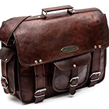Large Leather Briefcase Bag
