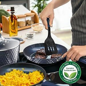 nutrichef cookware;kitchen ware;cooking pots;Blue Diamond Ceramic;Nonstick Kitchen Cookware
