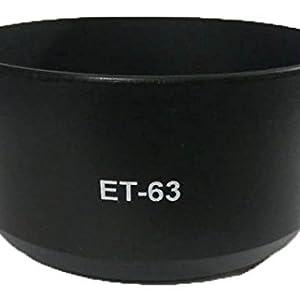 ET63 Lens Hood for Canon EF-S 55-250mm f/4-5.6 is STM Lens (Black)