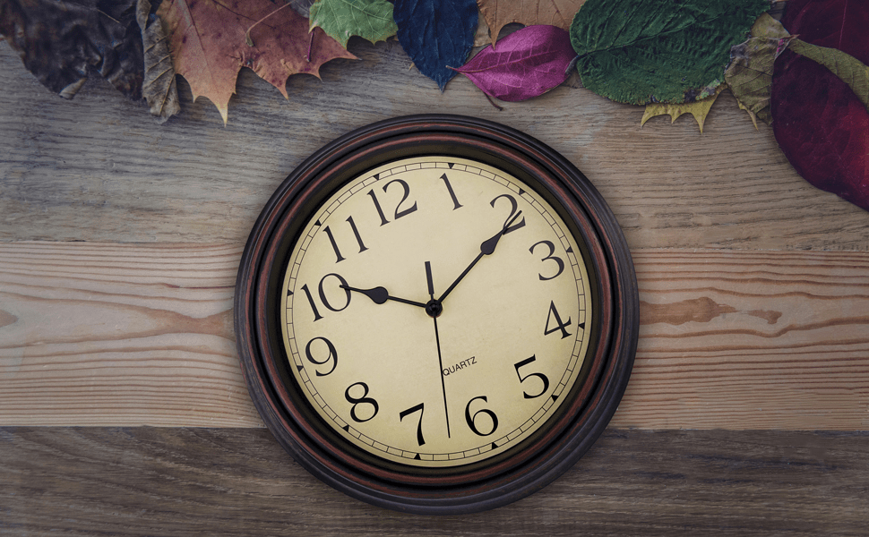 retro wall clock with vintage style