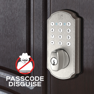 Passcode Disguise feature - add up to 6 extraneous numbers before or after your passcode.