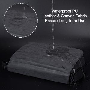 PU leather messenger bag