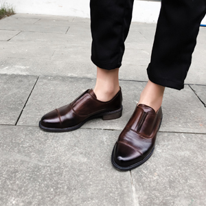 brown leather oxfords women