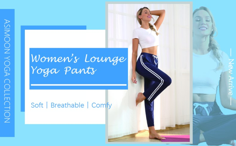 ASIMOON Women's Yoga Pants Wide Leg Loose Stretch Athletic Pants