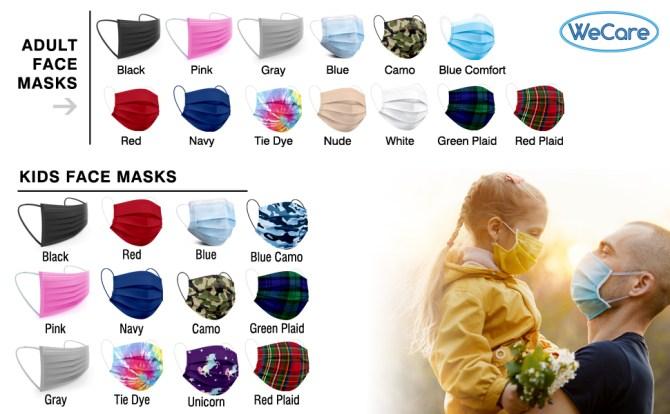 Wecare face masks