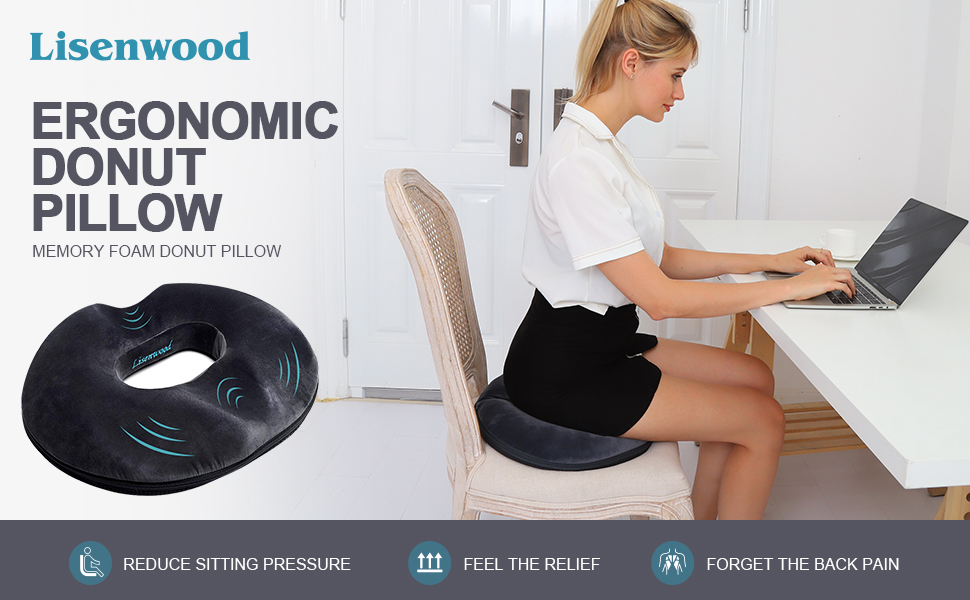 donut pillow seat cushion for office car pain relief