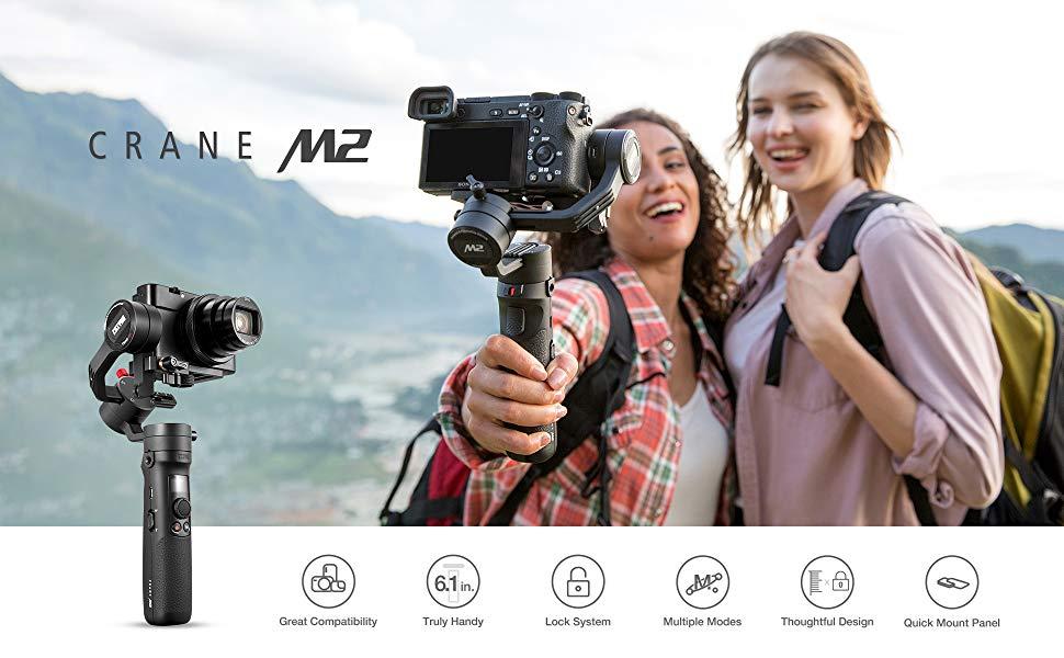Amazon.com : Zhiyun Crane M2 3-Axis Gimbals Compatible for Action ...
