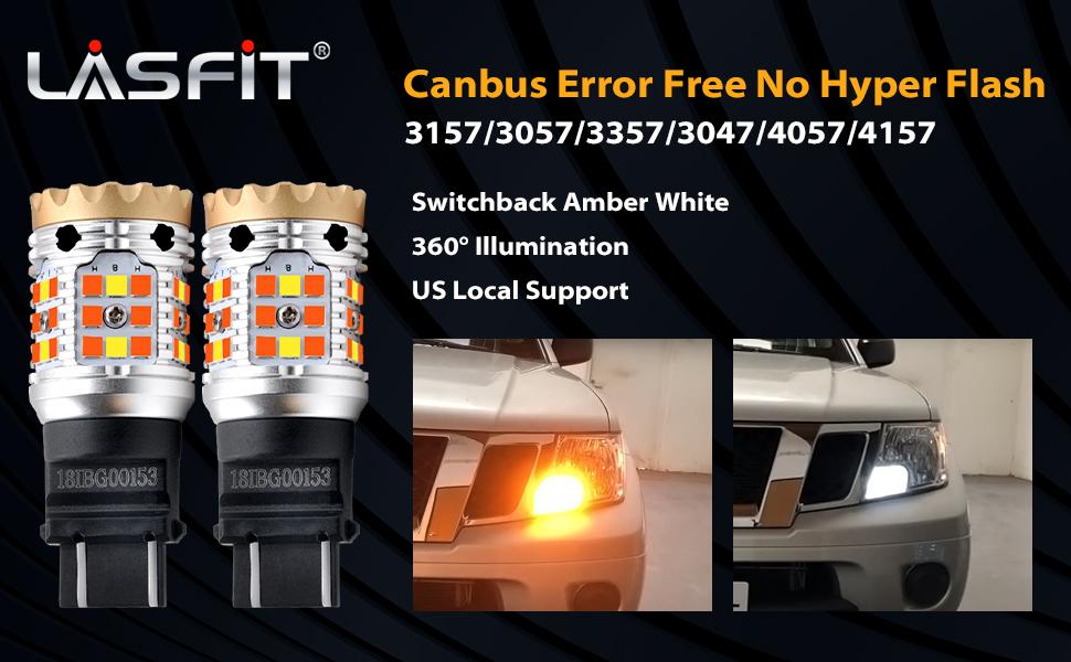 lasfit 3157 canbus switchback led bulb banner