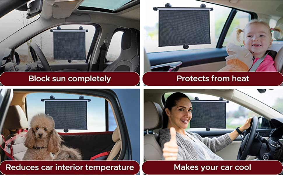 Sunshade for car baby blocks sun completely