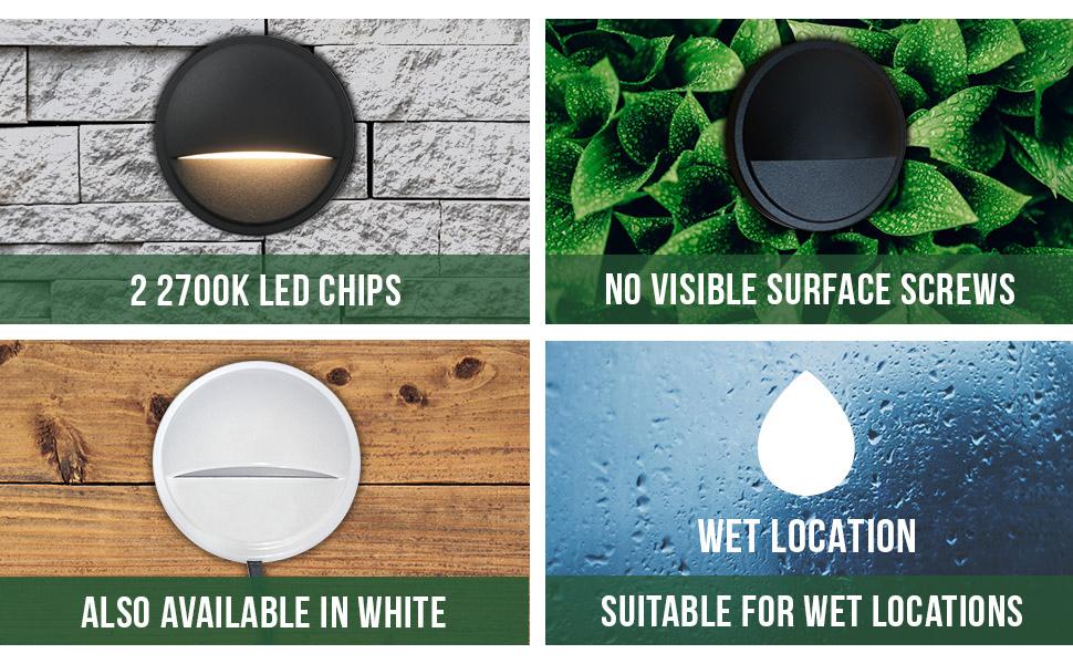 led deck lighting die cast aluminum landscape step lights no screw waterproof