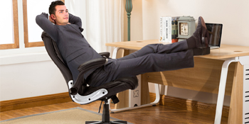 Home Ergonomic Executive Office Chair Leather Desk Chair