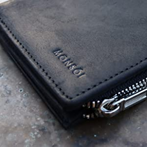 Slim wallet men's slim wallet wallet with coin pocket minimalist wallet