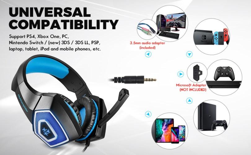 over-ear gaming headphones