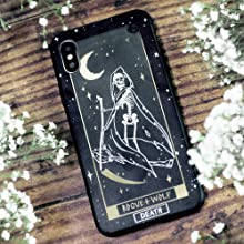 Death Tarot Card, wicca, wiccan supplies, witchy, witch, goth, gothic, iphone, samsung, phone case