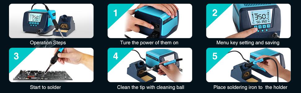 solder operation steps