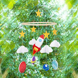 hanging pendant for baby room nursery ceiling decoration for girls unicorn star crib mobile