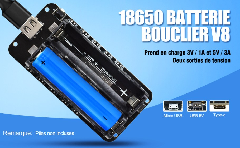 18650 Battery Shield