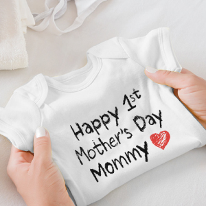 happy 1st mothers day baby boy baby girl my first mothers day shirt our first mother's day