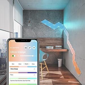 Nanoleaf Light Panels Bedroom