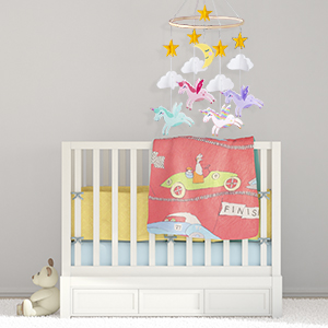 hanging pendant for baby room nursery ceiling decoration for girls unicorn baby crib mobile star