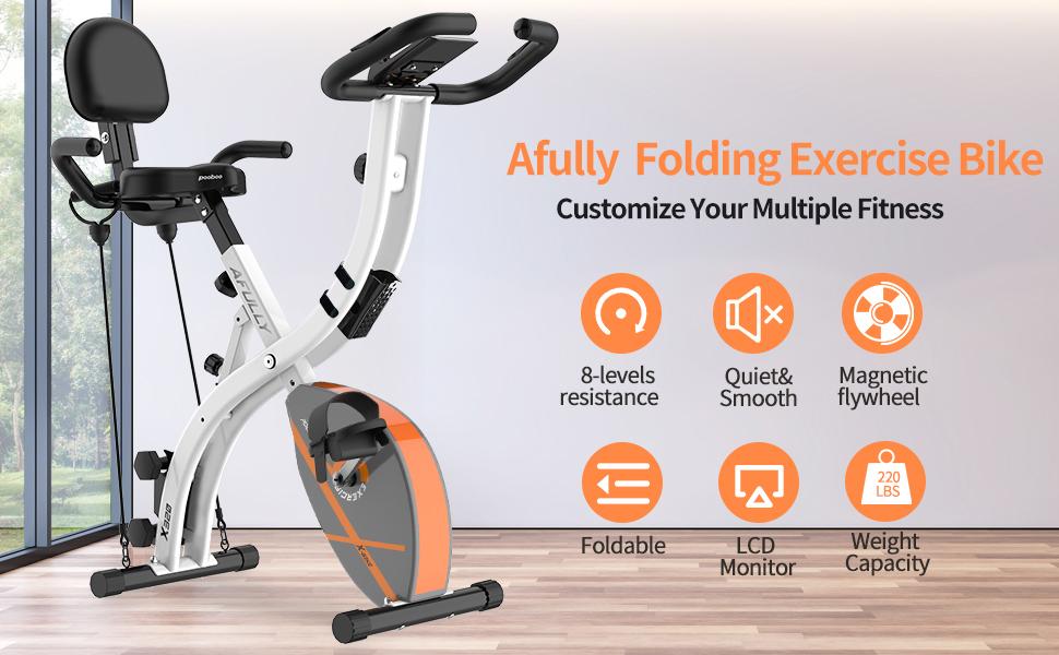 Afully Folding Exercise Bike