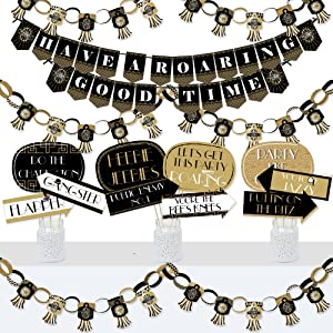 Roaring 20's Party Decoration and Banner Bundle
