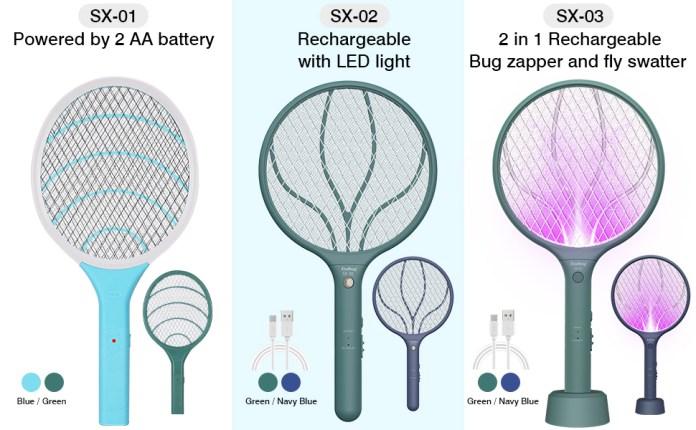 Endbug bug zapper fly swatter racket