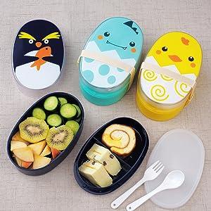 Penguin bento box for kids