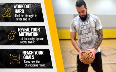 您现在可以回家,露汗的T恤描述,锻炼,健身房和健身反应性T恤正在使用中