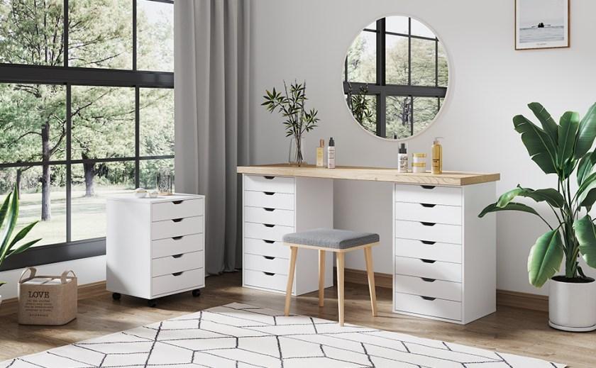 white 7 drawer dresser