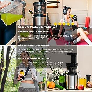Slow juicer entsafter nutrilovers testsieger slowjuicer obst und gemüse bpa frei amazon edelstahl